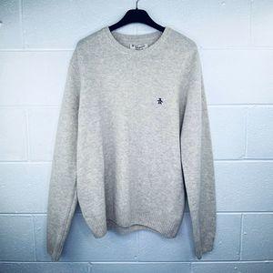 Penguin XL Sweater Lambswool Beige Crew Neck